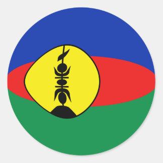 New Caledonia Fisheye Flag Sticker