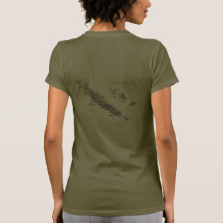 New Caledonia Flag and Map dk T-Shirt T Shirts