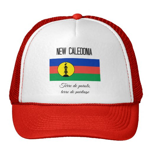 New Caledonia, Flag and Motto (Fr) Hat