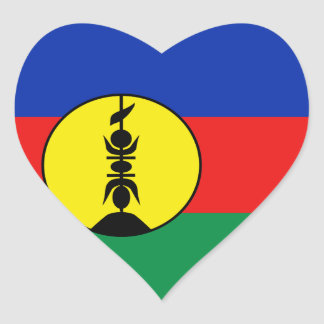 New Caledonia Flag Heart Sticker