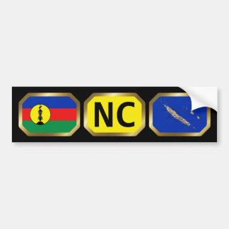 New Caledonia Flag Map Code Bumper Sticker