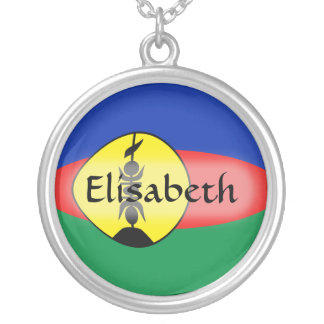 New Caledonia Flag + Name Necklace