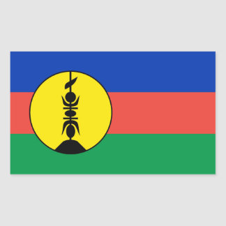new caledonia flag rectangular sticker