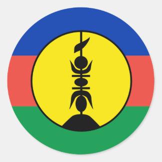 New Caledonia Flag Round Sticker