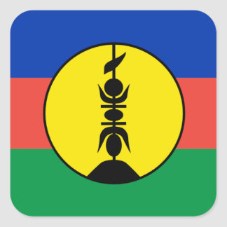 New Caledonia Flag Square Sticker