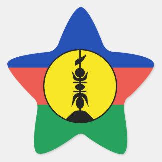 New Caledonia Flag Star Sticker