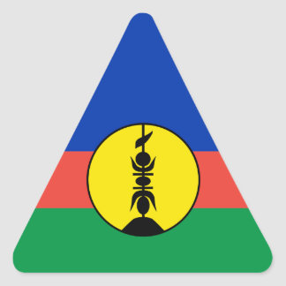 New Caledonia Flag Triangle Sticker