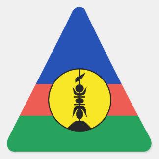 New Caledonia Flag Triangle Sticker