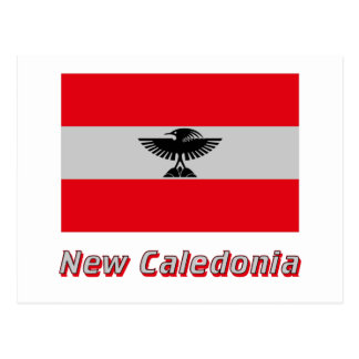 New Caledonia Flag with Name Postcard