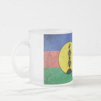 New Caledonia Frosted Glass Mug