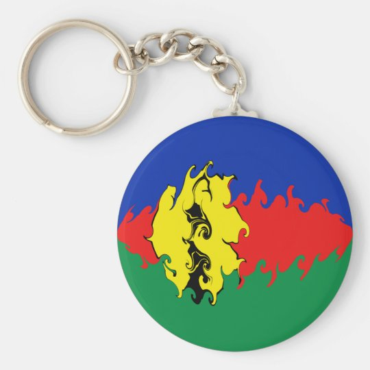 New Caledonia Gnarly Flag Key Ring