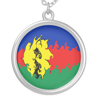 New Caledonia Gnarly Flag Personalized Necklace