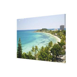 New Caledonia, Grande Terre Island, Noumea. Anse 2 Canvas Print
