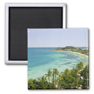 New Caledonia, Grande Terre Island, Noumea. Anse 2 Square Magnet