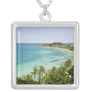 New Caledonia, Grande Terre Island, Noumea. Anse 2 Square Pendant Necklace