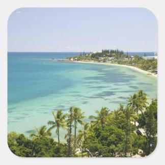 New Caledonia, Grande Terre Island, Noumea. Anse 2 Square Sticker