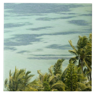 New Caledonia, Grande Terre Island, Noumea. Anse Large Square Tile