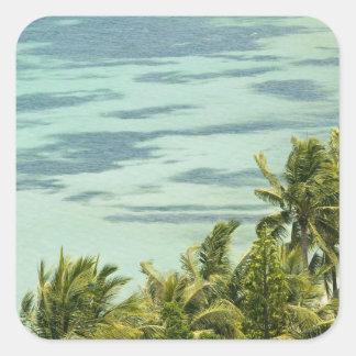 New Caledonia, Grande Terre Island, Noumea. Anse Square Sticker
