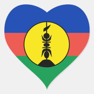 New Caledonia Heart Flag Heart Sticker