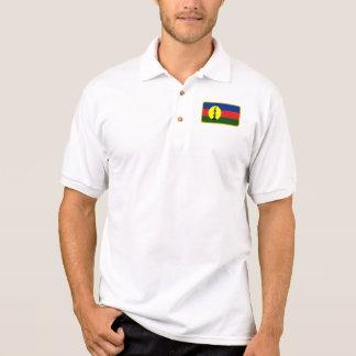 New Caledonia Kanaky flag golf polo