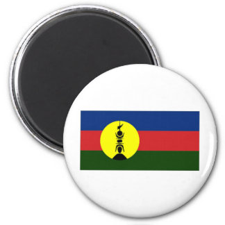 New Caledonia Kanaky Local Flag 6 Cm Round Magnet