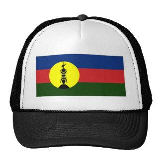 New Caledonia Kanaky Local Flag Mesh Hats