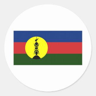 New Caledonia Kanaky Local Flag Round Sticker