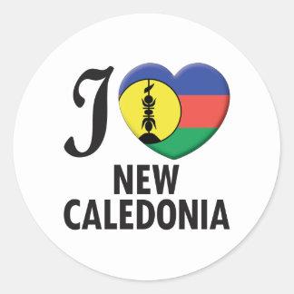 New Caledonia Love Classic Round Sticker