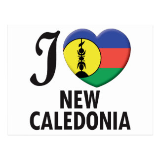 New Caledonia Love Postcard