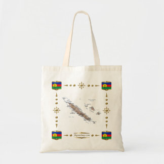 New Caledonia Map + Flags Bag
