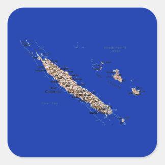 New Caledonia Map Sticker