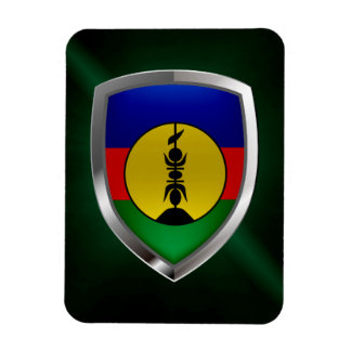 New Caledonia Metallic Emblem Rectangular Photo Magnet