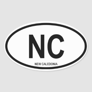 "New Caledonia ""NC"" Oval Stickers"
