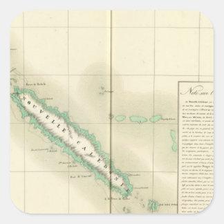 New Caledonia Oceania no 46 Square Sticker