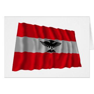 New Caledonia Waving Flag Greeting Card