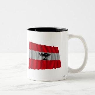 New Caledonia Waving Flag Two-Tone Mug