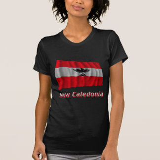 New Caledonia Waving Flag with Name Tshirts
