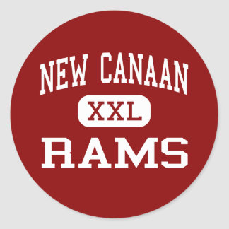 New Canaan - Rams - High - New Canaan Connecticut Round Sticker