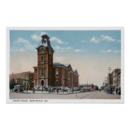 New Castle, Indiana Court House Poster