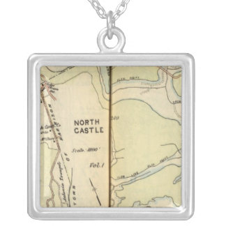 New Castle, New York 3 Silver Plated Necklace