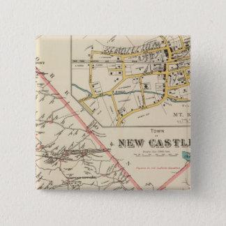 New Castle town 15 Cm Square Badge