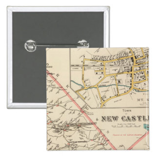 New Castle town 15 Cm Square Badge