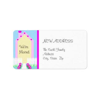 New Change of Address Cute House Address Label