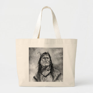 New Chest ,Piegan Indian Large Tote Bag