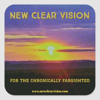 New Clear Vision Square Sticker