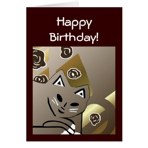 New Cocoa Cat Art Birthday Card Gift