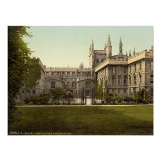 New College, Oxford, England Poster