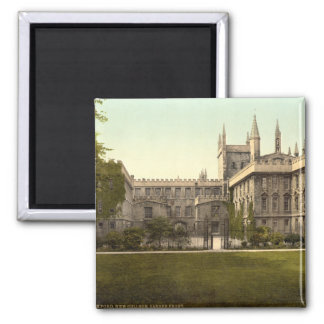 New College, Oxford, England Square Magnet