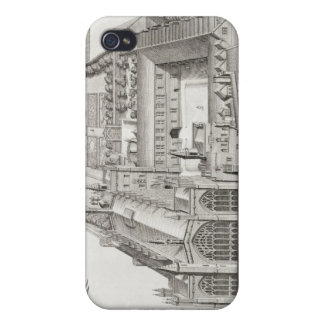 New College, Oxford, from 'Oxonia Illustrata', pub Cases For iPhone 4