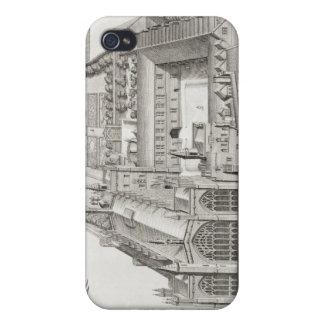 New College, Oxford, from 'Oxonia Illustrata', pub iPhone 4 Cases